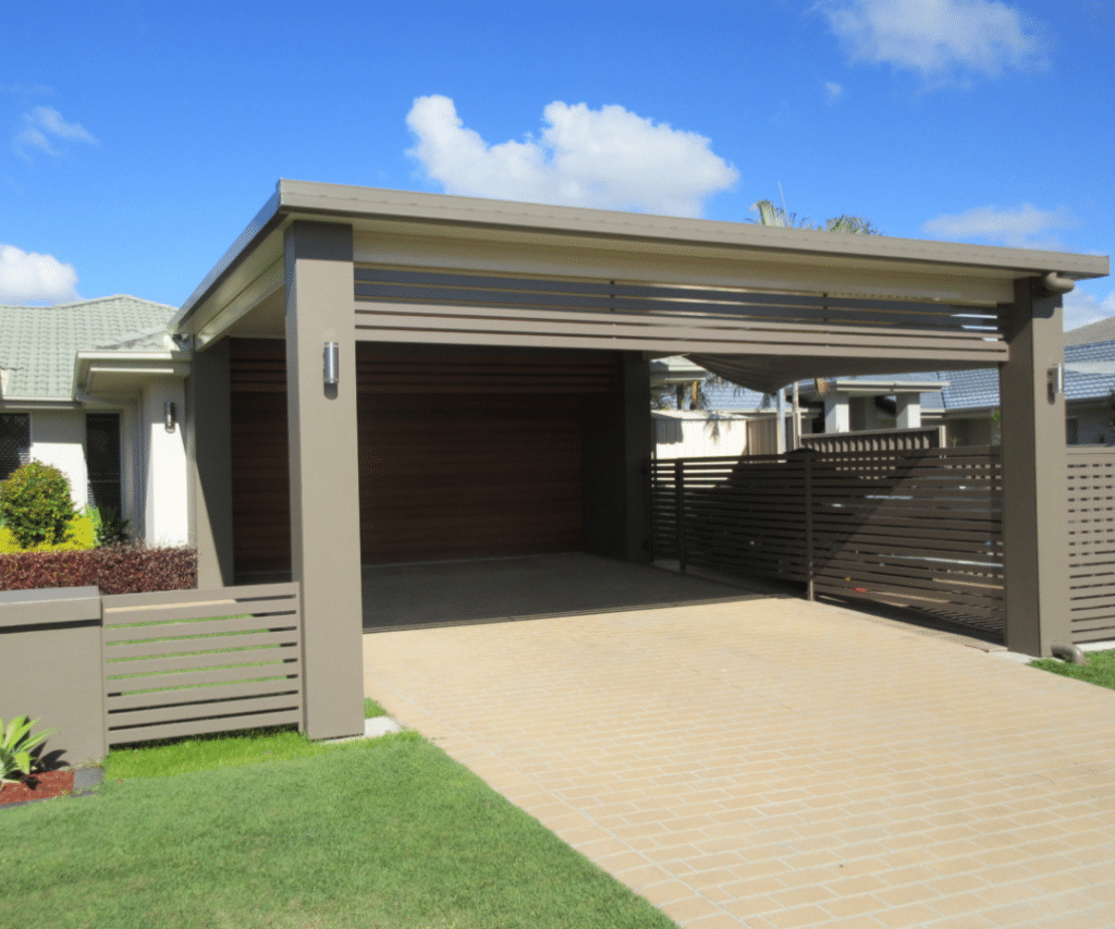 newly completed carport gold coast