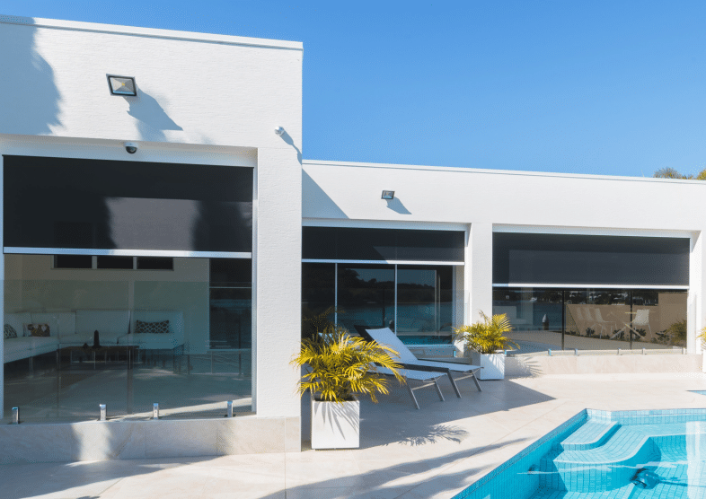 zipscreen outdoor blinds and pool