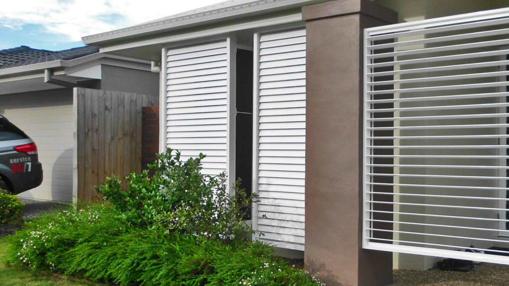 outdoor view of shutters